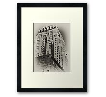 The New Yorker Hotel, old sepia postcard Framed Print