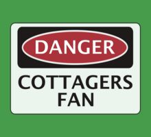 DANGER FULHAM, COTTAGERS FAN, FOOTBALL FUNNY FAKE SAFETY SIGN One Piece - Short Sleeve