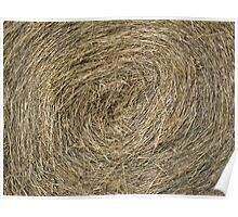 Hay Bale abstract Poster
