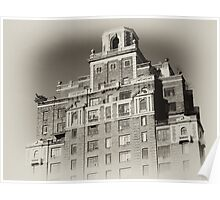 New York City Building, old sepia postcard Poster