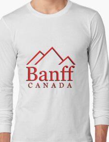 Banff Alberta Canada Logo Long Sleeve T-Shirt