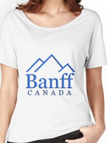 Banff Alberta Canada Logo Women's Relaxed Fit T-Shirt