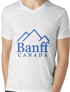 Banff Alberta Canada Logo Mens V-Neck T-Shirt