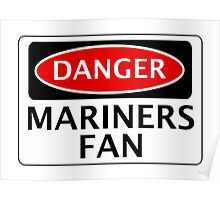 DANGER GRIMSBY TOWN, MARINERS FAN, FOOTBALL FUNNY FAKE SAFETY SIGN Poster