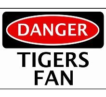 DANGER HULL CITY, TIGERS FAN, FOOTBALL FUNNY FAKE SAFETY SIGN by DangerSigns