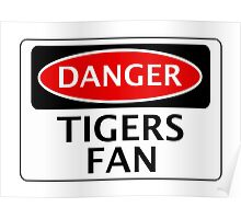 DANGER HULL CITY, TIGERS FAN, FOOTBALL FUNNY FAKE SAFETY SIGN Poster