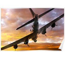 B17 Fire In The Sky Poster