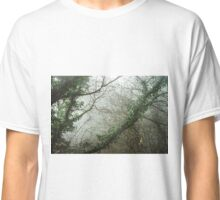 Winter tree silhouette in great fog, natur concept Classic T-Shirt