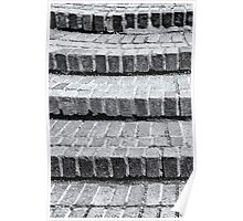 Brick Steps in Black and White Poster