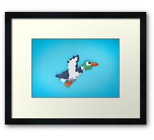 8-Bit Duck Framed Print