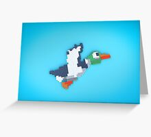 8-Bit Duck Greeting Card