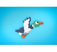 8-Bit Duck Photographic Print