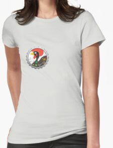 Symbols of Portugal - Rooster bottle cap Womens Fitted T-Shirt