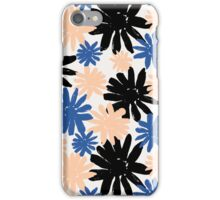 Pink, Blue and Black Floral Pattern iPhone Case/Skin