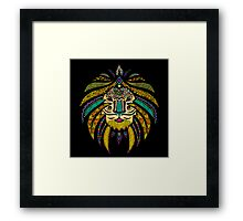 Emperor Tribal Lion Black Framed Print