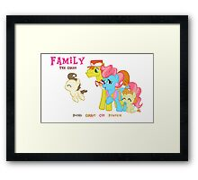 The Cakes Family - My Little Pony Framed Print