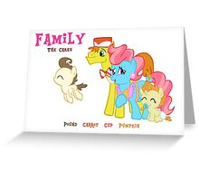 The Cakes Family - My Little Pony Greeting Card