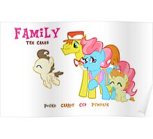 The Cakes Family - My Little Pony Poster