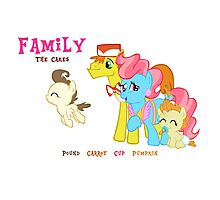 The Cakes Family - My Little Pony Photographic Print