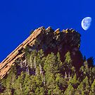 First Flatiron Moonset by Greg Summers