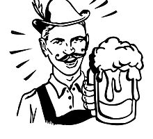 Retro Guy with Beer by Cheesybee
