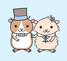 Hamster Wedding Couple by zoel