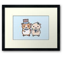 Hamster Wedding Couple Framed Print