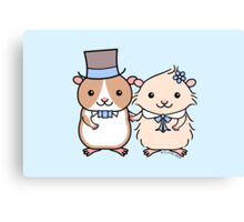 Hamster Wedding Couple Canvas Print