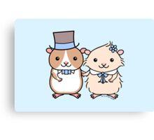 Hamster Wedding Couple Canvas Print