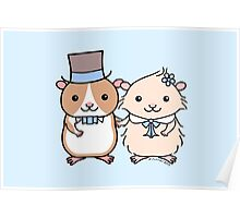 Hamster Wedding Couple Poster