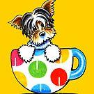 Biewer Yorkie Polka Dot Cup by offleashart