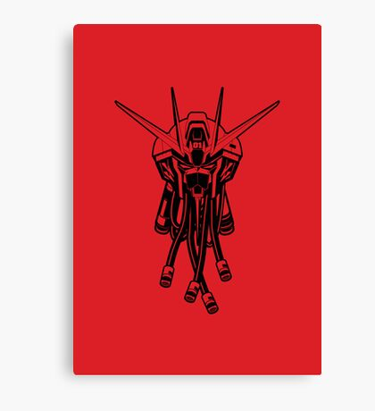 Gundam Black Canvas Print
