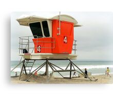 Lifeguard Station #4  Canvas Print