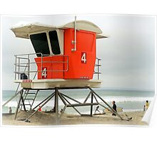 Lifeguard Station #4  Poster