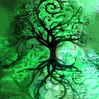 Tree Collage (Green) by JBurkeDesign