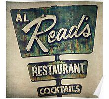 Al Read's Restaurant Vintage Sign Poster