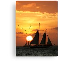 Sunset Sail in Key West II Canvas Print