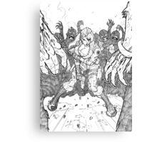 Zombie Growl Pencils Canvas Print