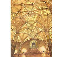 domes at Jerónimos Monastery. watercolor Photographic Print