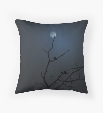 Spooky Night - Dawson Creek B.C Throw Pillow