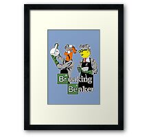 Breaking Beaker Framed Print