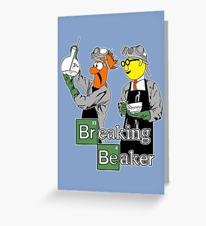 Breaking Beaker Greeting Card