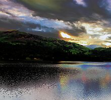 Sunset & clouds over Grasmere by liberthine01
