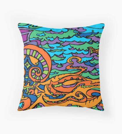 Dapper Octopi Throw Pillow
