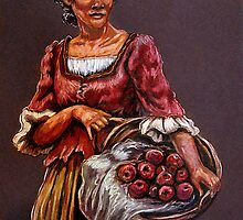 """Tonight's Apple Pie"" Portrait Of An African Woman by Susan Bergstrom"