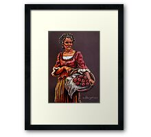 """Tonight's Apple Pie"" Portrait Of An African Woman Framed Print"