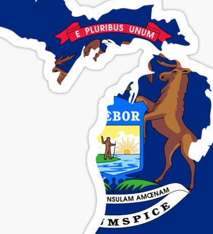 Michigan | Flag State | SteezeFactory.com Sticker