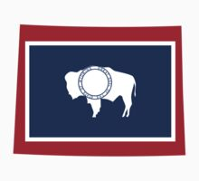 Wyoming | Flag State | SteezeFactory.com by FreshThreadShop