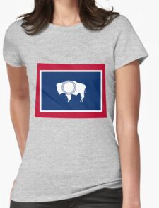Wyoming | Flag State | SteezeFactory.com Womens Fitted T-Shirt