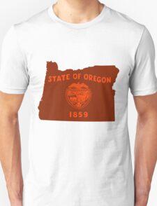 Oregon [Red Orange] | Flag State | SteezeFactory.com T-Shirt